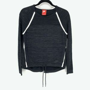 Nike Tech Knit Crew Long Sleeve Top Black